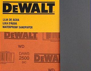 DeWalt - Lixa D'Água FINA Carbeto de Silício G 2500 230x280mm