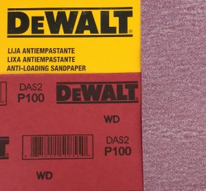 DeWalt - Lixa Seco Estearato G 100  230x280mm