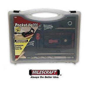 Milescraft - Pocket Hole Jig 200 Complete Kit 1323 - Gabarito p/ Fixação de Parafusos