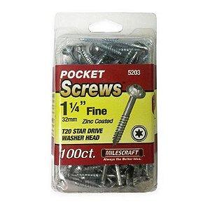 "Milescraft - Parafuso Pocket Hole (5203) 1.25"" - 32mm - Cabeça Flangeada - Rosca Fina"