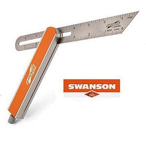 Swanson - Suta em Aço Inox e Aluminio Anodizado - SVV150 - 8 in. SAVAGE™ T-Bevel Square