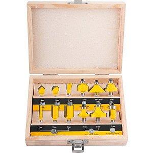 VONDER - Fresas para madeira Jogo com 12 peças