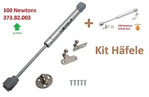 Hafele - Kit Pistão 100N pra Cima 2x e 100N pra baixo 2x (4 pistões)