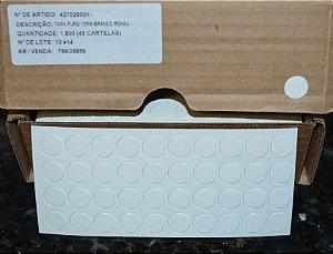 REHAU - KIT c/50 - Tapa Furo 12mm (Cartela c/40 TF) Cor: BRANCO 13449 P718