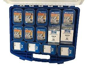 Kreg - Estojo + 4 Container + 650 Pocket Hole + 100 Tapa Furo
