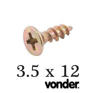 VONDER - Parafuso p/ Madeira 3,5 x 12 Chipboard (1.000 PÇs)