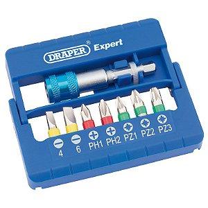 DRAPER - BITS - Conjunto c/  8 pçs Multicoloridos c/ Conector p/ Encaixe Rápido (82400)