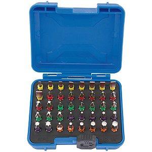 DRAPER - BITS - Conjunto c/ 40 pçs Multicoloridos c/ Conector p/ Encaixe Rápido (82404)