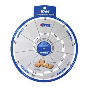 Kreg - SSW - Regua Ssletora de Parafusos - Screw Selector Wheel