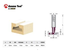 Amana Tool - Fresa p/ Painel Canaletado 16 - 32 mm FR310 - T-Slot Carbide Tipped