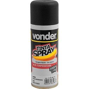 VONDER - Tinta em spray alta temperatura, preta, com 200 ml