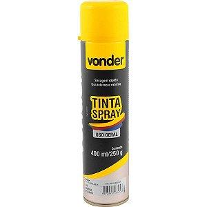 VONDER - Tinta em spray amarela, com 400 ml