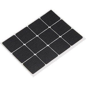 VONDER - Feltro autoadesivo preto, quadrado, 30 mm