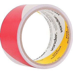 VONDER - Fita adesiva refletiva, 50 mm x 3 m, vermelha e branca