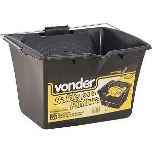 VONDER - Balde/caçamba para pintura, 15 L, preto