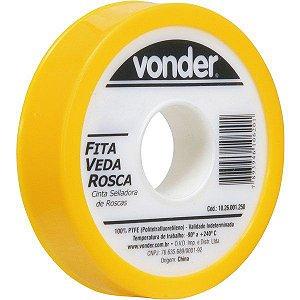 VONDER - Fita veda rosca 18 mm x  5 m