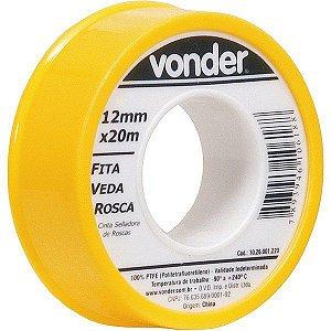VONDER - Fita veda rosca 12 mm x 20 m