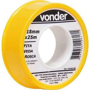 VONDER - Fita veda rosca 18 mm x 25 m
