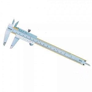 "MITUTOYO - Paquímetro Analógico Universal c/ Revestimento de Titânio 200mm/8"" – 0,02mm/ .001"" – 530-118B-10"