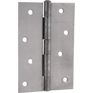 """VONDER - Dobradiça para porta em ferro polido, 4"""""""