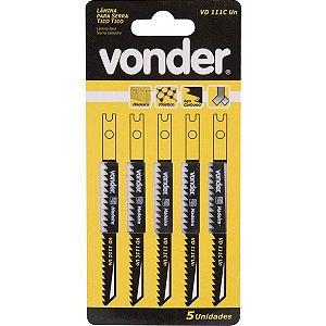 VONDER - Lâmina de serra tico-tico VD 111C-UN C/5 (plásticos, madeiras) C-75,0mm D-8 E-U