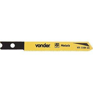 VONDER - Lâmina de serra tico-tico VD 118A-UN C/5 (metais ferrosos) C-50,0mm D-21 E-U