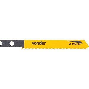 VONDER - Lâmina de serra tico-tico VD 118AF-UN C/5 (metais e ferros) C-50,0mm D-21 E-U