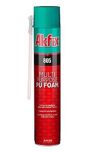 Akfix - 805 Espuma de Poliuretano Monocomponente Auto Expansiva, Antimofo, pode-se Pintar (570g-500ml) (805/570-500)