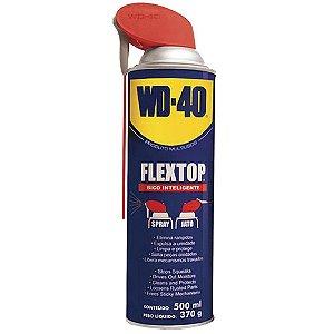 WD-40 - Flextop Aerossol 500ml / 370g Bico Inteligente (Spray/Óleo Lubrificante Multiuso)