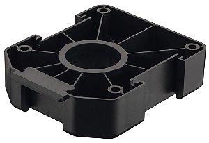 Häfele - AXILO - Placa (base) de montagem, retangular, plástico Preto - 637.76.333