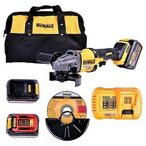 "Dewalt - Esmerilhadeira Angular Bateria 5-4.1/2 - 6"" Flexvolt 60V 220V - DCG414T2-B2"