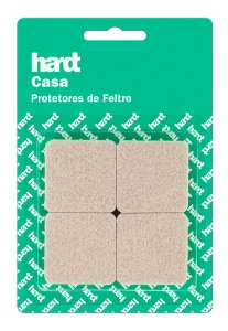 Hardt - Protetores de Feltro Quadrado 38x38 3mm 08 und R0006BG