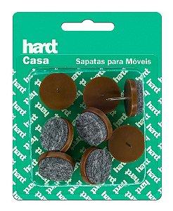 Hardt - Sapatas c/ prego p/ móveis Plástica c/ Feltro D24 08 und R0061MR