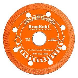 BrasKoki - Disco diamantado 110mm turbojet l.s.econ. Laranja