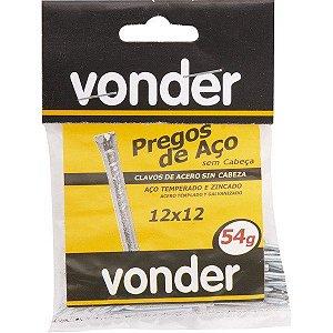 VONDER - Prego de Aço - Sem Cabeça - 12 x 12