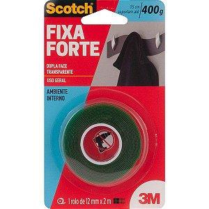 3M - Fita Dupla Face - Fixa Forte - 12mm x 2m - 10.46.001.202