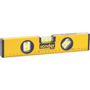 """VONDER - Nível de Alumínio com Base Magnética - 10"""""""