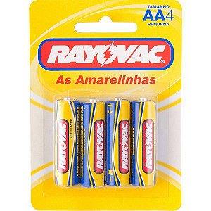 """RAYOVAC - Pilha para Uso Geral """"AA"""" Pequena - Cartela com 4 peças"""