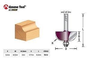 Amana Tool - AGE™ Pro-Series - FR212 - Concava de Arredondar Raio 9,5mm c/ Rolamento - Cove - Haste 6mm