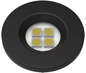 Artetílica Nuze - Luminária Pontual Circular D35 4 Super Led 3000K E321.P - 110/220V PRETO