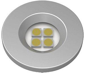 Artetílica Nuze - Luminária Pontual Circular D35 4 Super Led 5000K E521.A - 110/220V ALUMINIO