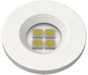 Artetílica Nuze - Luminária Pontual Circular D35 4 Super Led 5000K E521.B - 110/220V BRANCO