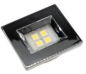 Artetílica Nuze - Luminária Pontual Retangular 35 - 4 Super Led 3000K 110/220V CROMADA - E314.C