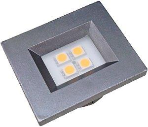 Artetílica Nuze - Luminária Pontual Retangular 35 - 4 Super Led 6000K 110/220V TITANIUM - E514.G