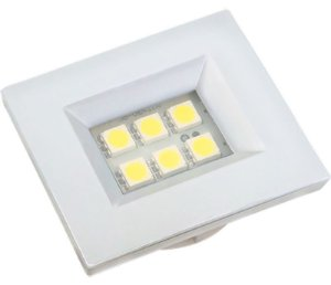 Artetílica Nuze - Luminária Pontual Retangular 35 - 6 Super Led 3000K 110/220V BRANCA - E310.B
