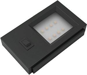 Artetílica Nuze - Luminária UNNO 220V Interruptor 3000k PRETO - E3001.01P