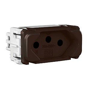 WEG - Composé - Módulo Tomada de Energia - 2P+T 20 A/250 V - Marrom