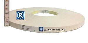 Roma Plastik - Fita de Bordo PVC Branco - TX -  19 x 0,40mm - Rolo 300M