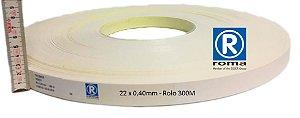 Roma Plastik - Fita de Bordo PVC Branco - TX -  22 x 0,40mm - Rolo 300M
