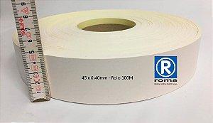 Roma Plastik - Fita de Bordo PVC Branco - TX -  45 x 0,40mm - Rolo 100M